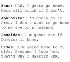 Hades, the only one that can really love a person
