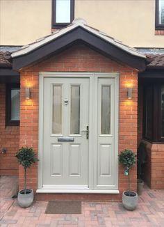 New Exterior Front Door Decor Entrance Ideas Porch Uk, Front Door Porch, Porch Doors, Front Porch Design, Front Door Entrance, Exterior Front Doors, House Front Door, Front Door Colors, House With Porch