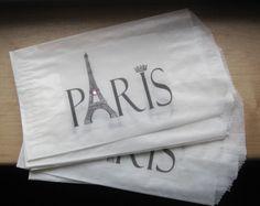 NEW paris label french market glassine sacks set of 7