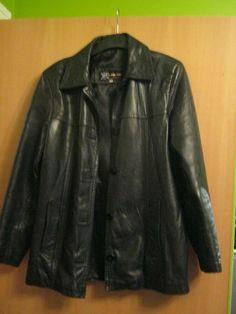 Shop by Category Black Leather Motorcycle Jacket, Womens Black Leather Jacket, Leather Blazer, Leather Jackets, Men's Clothing, Red Cardigan, Uni, Ebay, Size 10