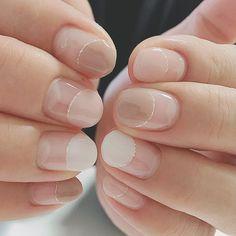 Pin on ネイル Long Nail Designs, Creative Nail Designs, Simple Nail Art Designs, Creative Nails, Minimalist Nails, Nude Nails, Nail Manicure, Jamberry Nails, Nail Design Kit