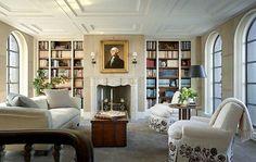 Einrichtung im viktorianischen Stil wohnzimmer kamin creme möbel ...
