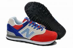 Joes New Balance 574 US574W1 Off-White Blue Red Womens Shoes