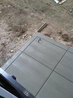 Regular broom finish concrete