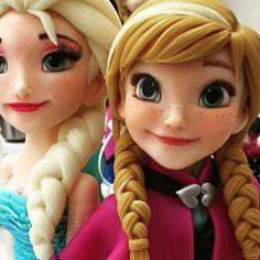 Anna Frozen, Disney Frozen Cake, Disney Cakes, Geek Birthday, Superhero Birthday Cake, Frozen Birthday Cake, Birthday Cakes, Fondant Cake Toppers, Fondant Cupcakes