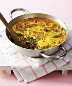 South African Bobotie - sweet-and-spicy curried meat casserole of Cape Malay cuisine