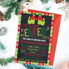 Lets Get Elfed Up, Adult Party Invitations, Christmas Invitations, Holiday Party Invites, Christmas Adult Christmas Party, Xmas Party, Christmas 2016, Holiday Parties, Christmas Party Invitations, Printable Invitations, Invites, Rsvp, Card Stock