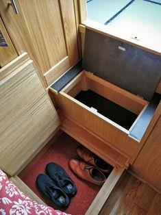 Under floor shoe box