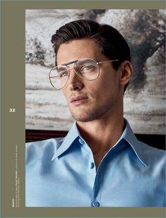 A smart vision, Garrett Neff wears Gucci.