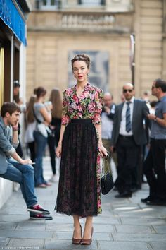 Ulyana Sergeenko photographed by Stockholm Street Style    Aprons.
