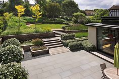 1000 images about split level contemporary gardens on for Split level garden designs