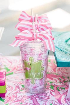 Tropical-Bridal-Shower-Personalized-Cups