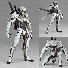 Revoltech 140EX Raiden White Ver Metal Gear Solid Rising Anime Figure Kaiyodo JP