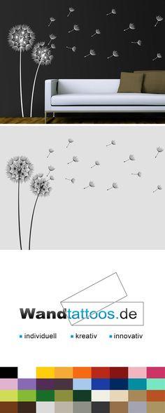 Wandtattoo Pusteblumen im Wind als Idee zur individuellen Wandgestaltung. Einfach Lieblingsfarbe und Größe auswählen. Weitere kreative Anregungen von Wandtattoos.de hier entdecken!