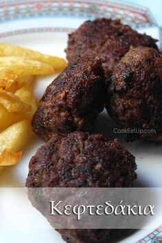Κεφτεδάκια ⋆ Cook Eat Up! Cookbook Recipes, Cooking Recipes, Greek Beauty, Orzo Salad, Greek Recipes, Steak, Food And Drink, Beef, Desserts