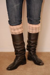 The Upcycled Sweater Series Part 1 - Leg Warmers and Boot Socks Tutorial