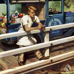 Marmont Hill Rush Order Stevan Dohanos Painting Print on Canvas 48 x 48 Home Decor Wall Decor Canvas Art