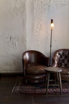 leather club chairs // nicole franzen