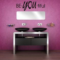 Enchanting Purple Wall Idea Feat Modern Bathroom Vanity Furniture Plus Black Sinks Also Small Mirror Design Excellent Modern Bathroom Furniture and Fixture Offering Effective Use Bathroom Design Bathroom Vanity Tray, Bathroom Vinyl, Bathroom Vanity Designs, Bathroom Fixtures, Bathroom Furniture, Modern Bathroom, Bathroom Mirrors, Bathroom Ideas, Office Bathroom