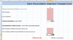 Bank Reconciliation Statement Excel Template XLS Payroll Resume Free Report