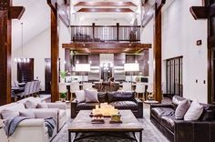 Private Residence  Great Room  Contemporary  Rustic by studio m interiors