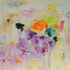 siilso art by yangyang pan  I love all of her bright colors and abstract heavy strokes