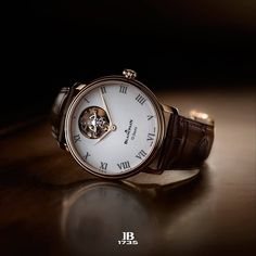 Blancpain Tourbillon 12 Jours. It rotates once a minute in order to compensate…