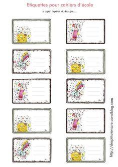 1000 images about etiquettes on pinterest polka dot labels owl labels and classroom labels. Black Bedroom Furniture Sets. Home Design Ideas