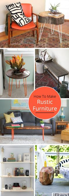 Get Your Home On Trend With These Rustic Decor Furniture Pieces From A Rustic Side Table With Hairpin Legs To A Crate Side Table You Will Find Decor . White Bedroom Furniture Ikea, Loft Furniture, Repurposed Furniture, Rustic Furniture, Furniture Making, Furniture Decor, Crate Side Table, Rustic Side Table, Side Tables