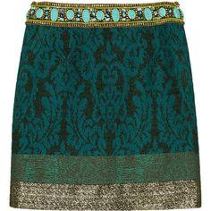 Matthew Williamson Embellished jacquard mini skirt ($940) ❤ liked on Polyvore