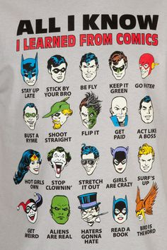 Batman. All I know I learned from comics. http://bitcast-a-sm.bitgravity.com/slashfilm/wp/wp-content/images/All-I-Know-Comics.jpg