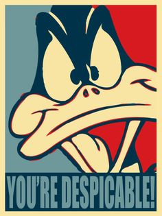 Daffy Duck Looney Tunes You're Despicable Funny Humor Poster Les Looney Tunes, Looney Tunes Cartoons, Looney Tunes Funny, Classic Cartoon Characters, Classic Cartoons, Daffy Duck Quotes, Looney Tunes Wallpaper, Duck Wallpaper, Thats All Folks