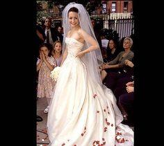 Kristin Davis aka Charlotte York Goldenblatt from Sex and the City's wedding dress.