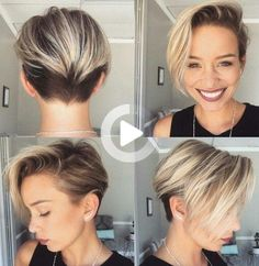 #shortsummerhairstyles Popular Short Hairstyles, Hairstyles Over 50, Summer Hairstyles, Hairstyles 2018, Short Grey Hair, Short Hair Styles, Pixie Cut, Audrey Hepburn, Corte Shag