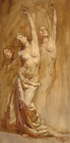 "Robert Liberace  Reaching Oil on panel -2012 30.48 x 60.96 cm (12"" x 24"")"