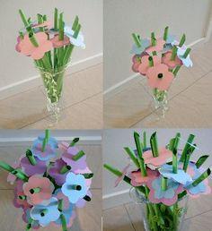 Sang skjuler lavet til blomster-glad pige