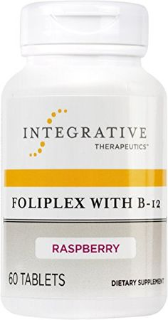 Integrative Therapeutics  Foliplex with B12  Rasberry flavor  60 Chewable Tablets *** See this great product. (This is an affiliate link) #MultiVitaminsSupplements