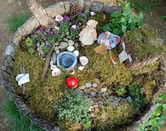 Blueberry Cottage: May Day fairy garden and a sweet giveaway!