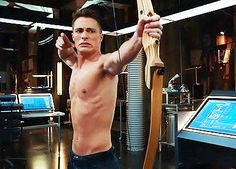 Pin for Later: Shirtless Pull-Ups and 20 Other Reasons Arrow Is TV's Sexiest Show Though, he's still working on his arrow game.