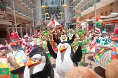Get up close & personal with your favorite DreamWorks friends during the character parade! RoyalCaribbean