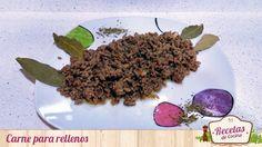 Carne para rellenos -  Esta carne para rellenos te sacará de más de un apuro a la hora de hacer por ejemplo unas berenjenas rellenas con carne, unas alcachofas, una pasta con bechamel o cualquier otro tipo de comida a la que le vaya genial el sabor de la carne picada condimentada con un poco de ajo, cebolla y vino b... - http://www.lasrecetascocina.com/carne-para-rellenos/