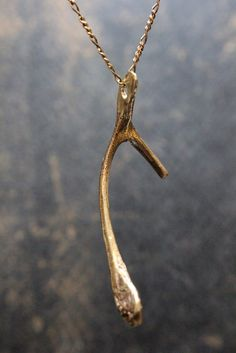 Wishbone Necklace A Thanksgiving Wish by mrd74 on Etsy