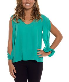 This Jade Cutout Top is perfect! #zulilyfinds