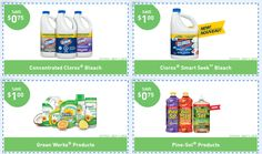 Clorox Coupons: Save on Clorox, Pine-Sol & Green Works Products