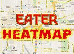 Updating the Eater Heatmap: Where to Eat Right Now : atlanta.eater  #Atlanta