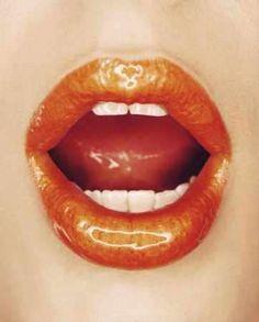 vivid, glossy orange