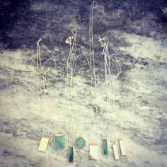 Aventurine and brass pendants and new solid brass with copper detail pendants All That Glitters, Solid Brass, Copper, Pendants, Jewels, Abstract, Artwork, Jewellery, Detail