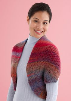 Snapped Convertible Cowl Shrug Pattern (Knit)