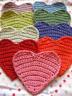 Crochet sweet hearts by Attic24, via Flickr