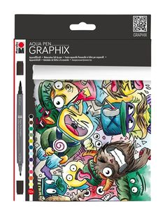 Shop Marabu Graphix Aqua Pen - Mega Mash, Set of 12 at Blick. Find everything you need for your next creative project online. Manga Watercolor, Watercolor Paper, Watercolor Paintings, Art Graphique, Color Lines, Pen Sets, Joanns Fabric And Crafts, Markers, Illustration